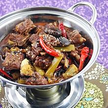 红酒豆豉干锅脆排(干锅排骨)