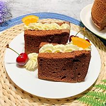 法芙娜可可粉烤的巧克力戚风蛋糕