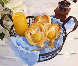 心中的太阳~椰蓉黄桃夹心菠萝酱面包的做法