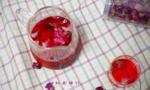 最适合夏天的冷泡茶--玫瑰花洛神花茶的做法