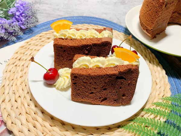 法芙娜可可粉烤的巧克力戚风蛋糕的做法