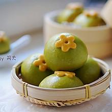 菠菜小花馒头#柏翠辅食节-辅食添加#