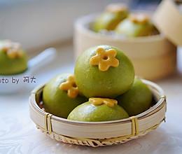 菠菜小花馒头#柏翠辅食节-辅食添加#的做法