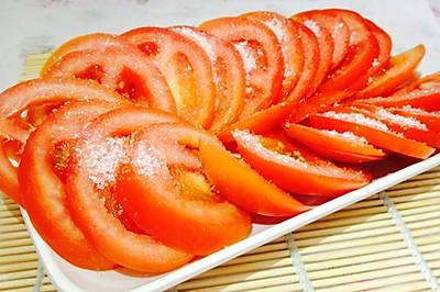 炎炎夏日,必须凉菜--火山飘雪(凉拌番茄)