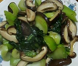 蚝油香菇青菜的做法