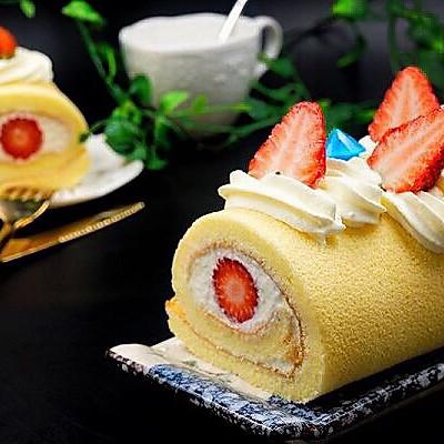 草莓蛋糕卷(烫面法)