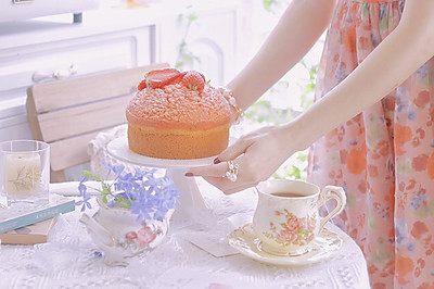 草莓麦芬蛋糕