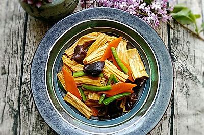 素食记~清炒腐竹