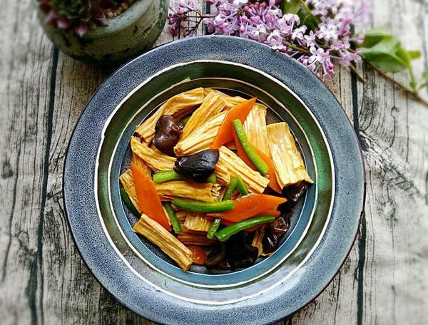 素食记~清炒腐竹的做法