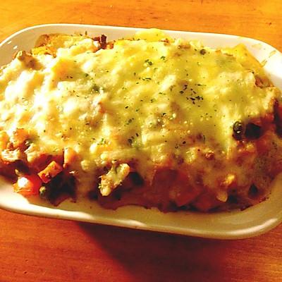 【留学生简易菜谱】番茄奶酪焗饭