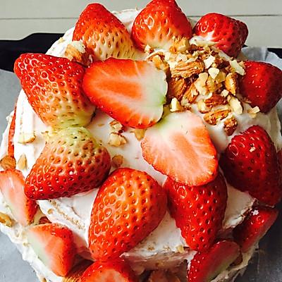 双层生日蛋糕-草莓栗子泥味儿