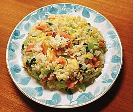 青菜蛋炒饭的做法