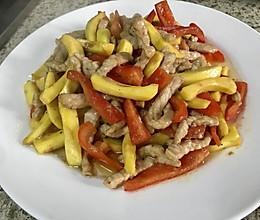 菠萝蜜炒肉的做法