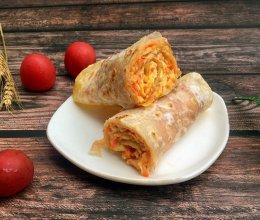 营养早餐·胡萝卜鸡蛋手抓饼的做法