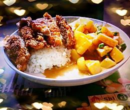 咖喱芝士猪排饭的做法