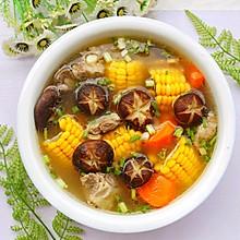 #夏天夜宵High起来!#香菇玉米胡萝卜排骨汤