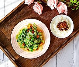 油渣小白菜+猪油拌饭(童年的回忆)的做法