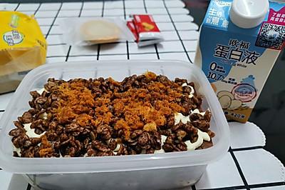 咸奶油巧克力脆脆蛋糕盒子