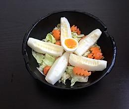 圆生菜黄桃鸡蛋沙拉#丘比沙拉汁#的做法