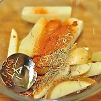 鸡肉酪梨沙拉拌凉面佐烤薯角的做法图解1