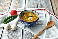 番茄蘑菇秋葵汤的做法