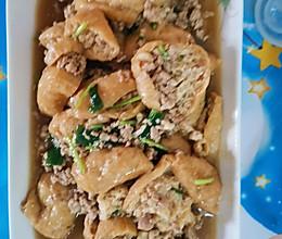 肉沫炒油豆腐的做法