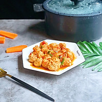#爽口凉菜,开胃一夏!#番茄鸡肉丸的做法图解17