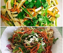 低脂美味的虫草花拌豆腐丝的做法