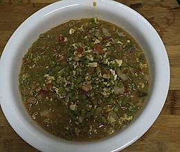 豆角茄子土豆鸡蛋肉丁打卤的做法