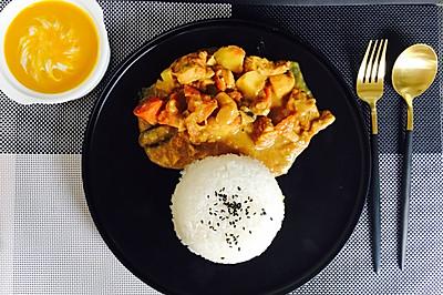 泰国咖喱鸡盖饭