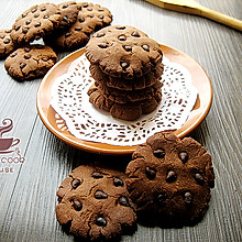 【巧克力豆曲奇饼】#长帝烘焙节#