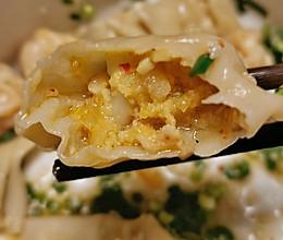 #换着花样吃早餐# 泡菜水饺的做法