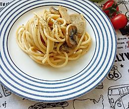 #美食视频挑战赛#奶油蘑菇意大利面的做法