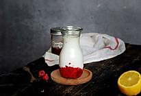 """风靡INS的树莓牛奶#在""""家""""打造ins风美食的做法"""