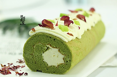 开启绿色养生之道- 大麦若叶青蛋糕卷