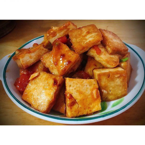 100道减肥餐—12道茄汁金黄豆腐的做法