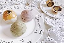 三色蛋黄酥 - 紫薯 抹茶 古早味 中秋节月饼中式糕点的做法