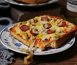 香肠吐司披萨的做法
