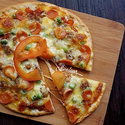 意式薄底_黑椒牛肉小披萨