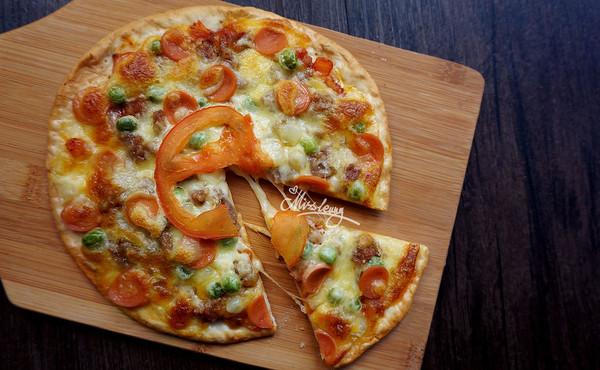 意式薄底_黑椒牛肉小披萨的做法