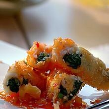 菠菜鱼肉卷