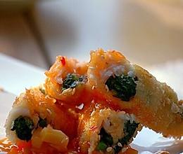 菠菜鱼肉卷的做法