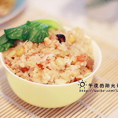 懒人午饭--简易电饭锅版煲仔饭