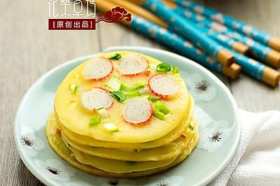 【蟹棒迷你蛋饼】早餐好伴侣