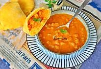番茄土豆浓汤配口袋面包#爱的暖胃季-美的智能破壁料理机#的做法