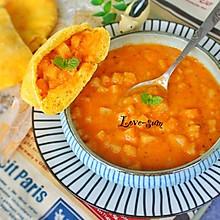 番茄土豆浓汤配口袋面包#爱的暖胃季-美的智能破壁料理机#