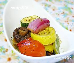 香草黑椒烤蔬菜的做法