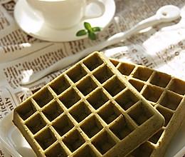 抹茶华夫饼的做法