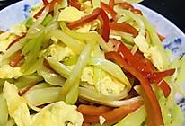 爽脆可口-鸡蛋青椒炒莴笋的做法
