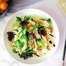 #今天吃什么# 小炒双花菜,色彩丰富营养全
